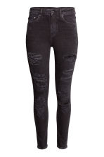 Skinny High Trashed Jeans - Black - Ladies | H&M CN 2